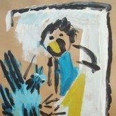 image mann-mit-vogel-5-2006-acryl-auf-papier-40x50cm-jpg